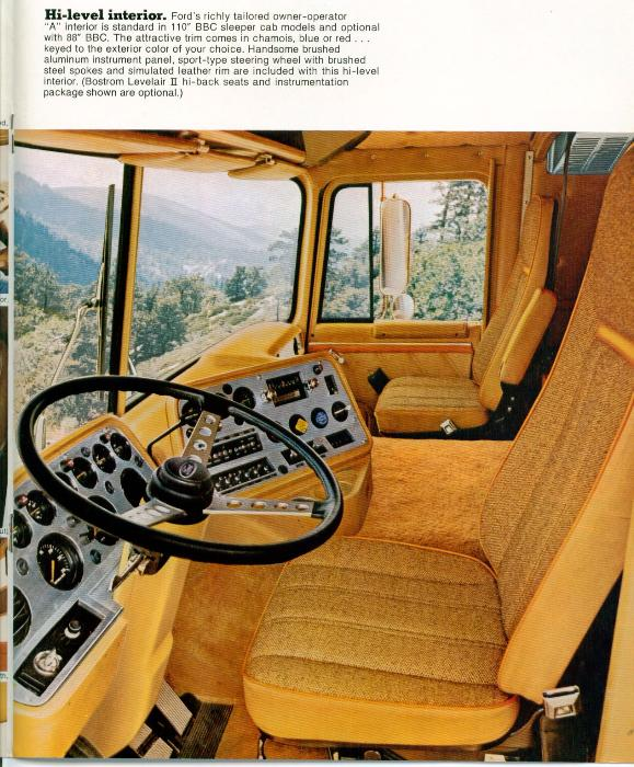 Ford 9000 Cabover Interior : Question about a ct