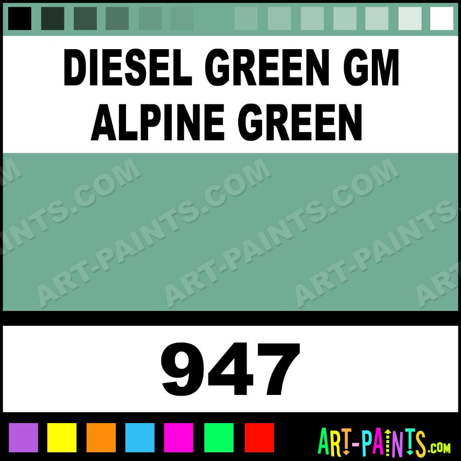 Detroit Diesel Alpine Green Paint Code